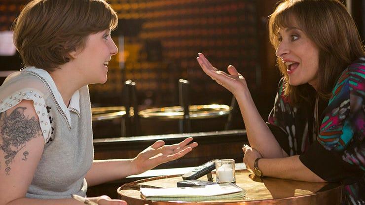 Lena Dunham and Patti LuPone, Girls