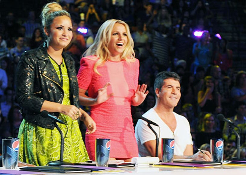 The X Factor - Season 2 - Demi Lovato, Britney Spears and Simon Cowell
