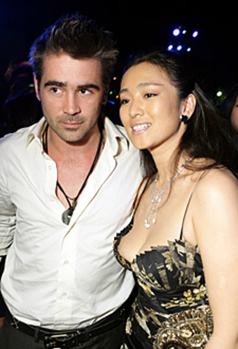 """Colin Farrell and Gong Li - The """"Miami Vice"""" premiere, July 20, 2006"""