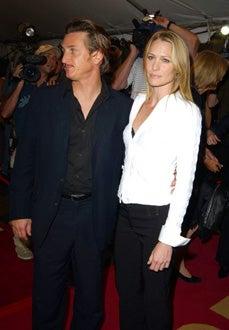 "Sean Penn and Robin Wright Penn - Toronto Film Festival - ""White Oleander"" premiere - Toronto, Ontario - Sept. 6, 2002"
