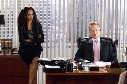 "Franklin & Bash - Season 1 - ""Franklin vs. Bash"" - Garcelle Beauvais and Reed Diamond"