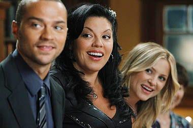 """Grey's Anatomy - Season 7 - """"With You I'm Born Again"""" - Jesse Williams, Sara Ramirez, Jessica Capshaw"""