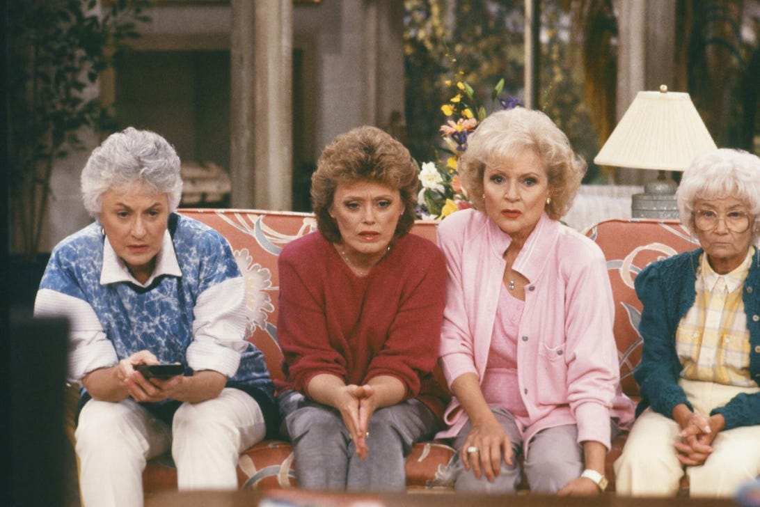 Bea Arthur, Rue McClanahan, Betty White, and Estelle Getty, Golden Girls