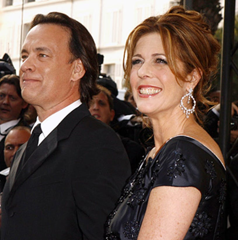 """Tom Hanks and Rita Wilson - The 2006 Cannes Film Festival opening night gala and """"The Da Vinci Code"""" world premiere, May 17, 2006"""