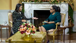 Watch Oprah Adorably Beg Michelle Obama to Go Glamping in Michelle's Swan Song Interview