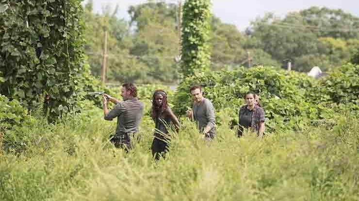 Andrew Lincoln, Danai Gurira, Ross Marquand and Alanna Masterson, The Walking Dead