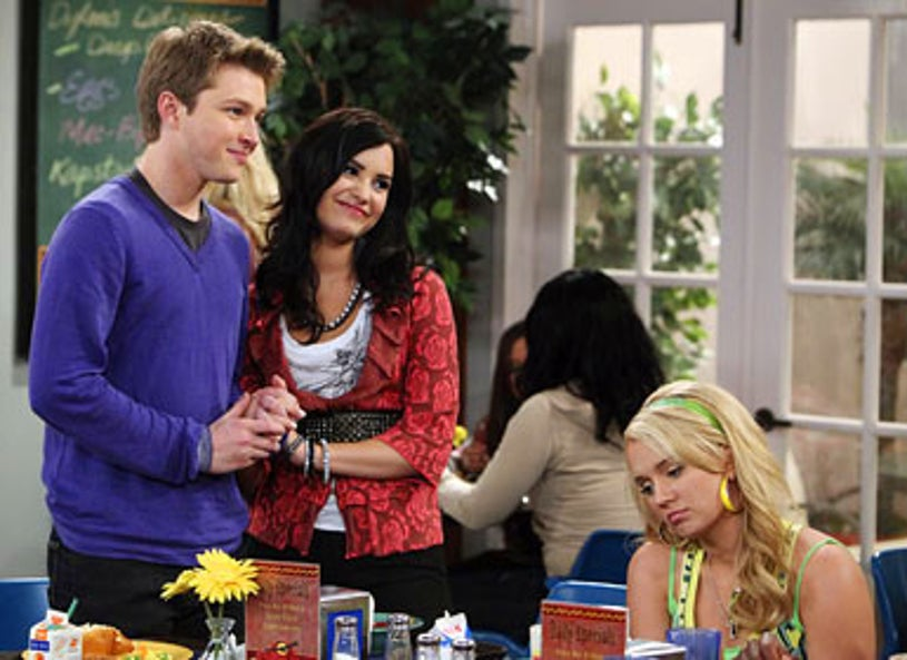 """Sonny With A Chance - Season 2 - """"Sonny With A Kiss"""" -  Sterling Knight, Demi Lovato and Tiffany Thornton"""