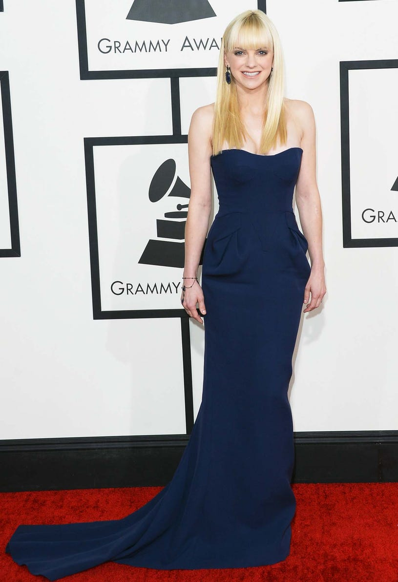 Anna Faris - 56th Annual Grammy Awards in Los Angeles, January 26, 2014
