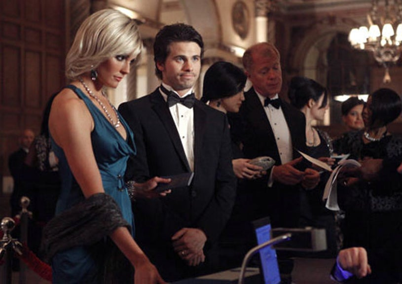 """The Event - Season 1 - """"A Message Back"""" - Taylor Cole as Vicky Roberts and Jason Ritter as Sean Walker"""