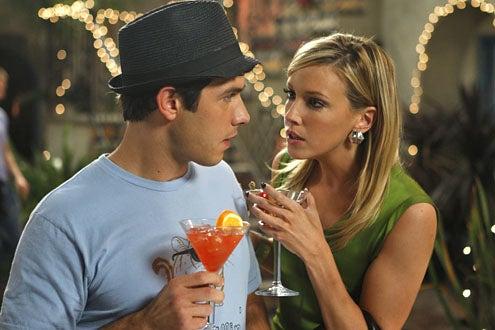 "Melrose Place - Season 1 - ""Santa Fe"" - Michael Rady as Jonah Miller and Katie Cassidy as Ella Simms"