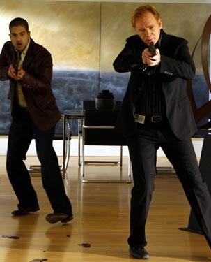 "CSI: Miami - Season 7, ""Head Case"" - Adam Rodriguez as Eric Delko, David Caruso as Horation Caine"