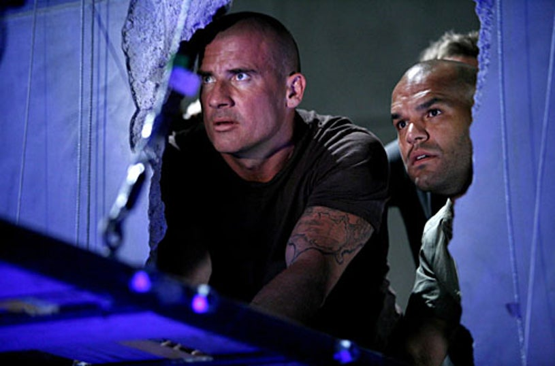"Prison Break - Season 4, ""Quiet Riot"" - Dominic Purcell as Lincoln, Amaury Nolasco as Sucre"