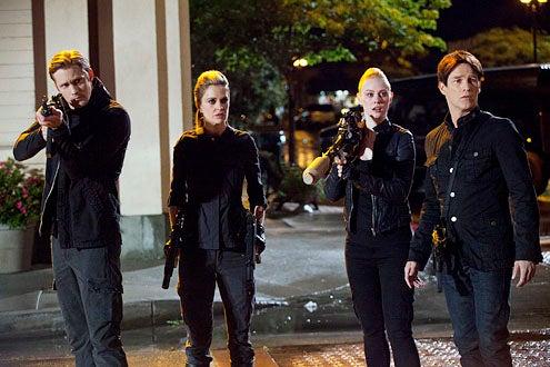 "True Blood - Season 4 - ""Soul of Fire"" - Alexander Skarsgard, Kristin Bauer van Straten, Deborah Ann Woll and Stephen Moyer"