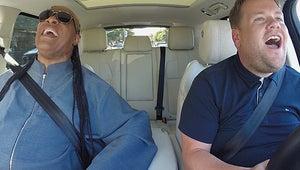 Stevie Wonder Is Living His Best Life Making James Corden Cry in Carpool Karaoke