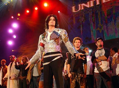 Michael Jackson - finale of United We Stand concert, Washington, DC, October 21, 2001