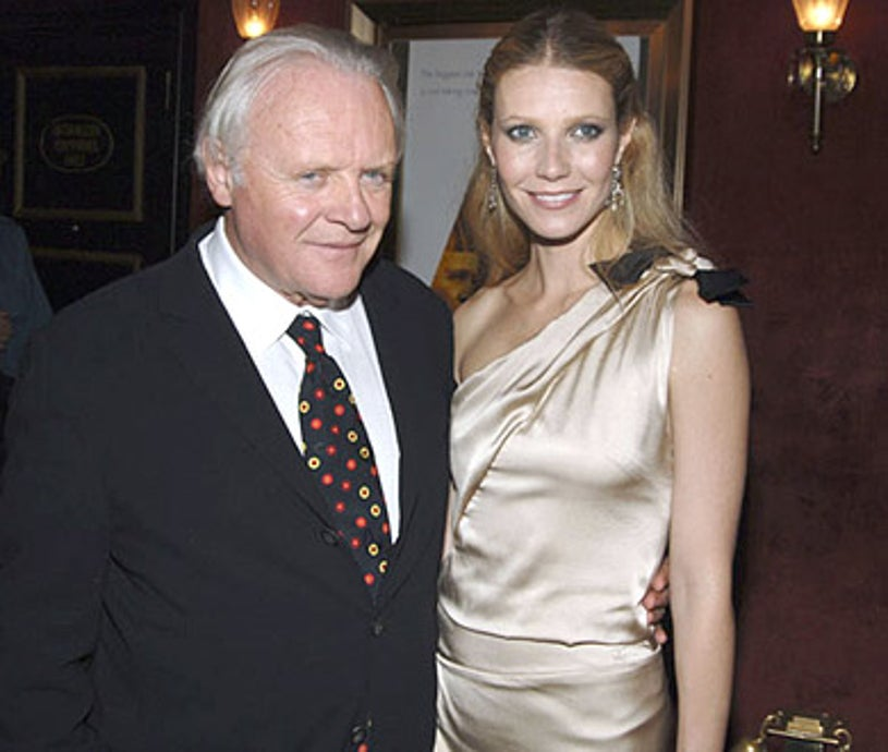 """Sir Anthony Hopkins and Gwyneth Paltrow - """"Proof"""" New York City Premiere, September 13, 2005"""