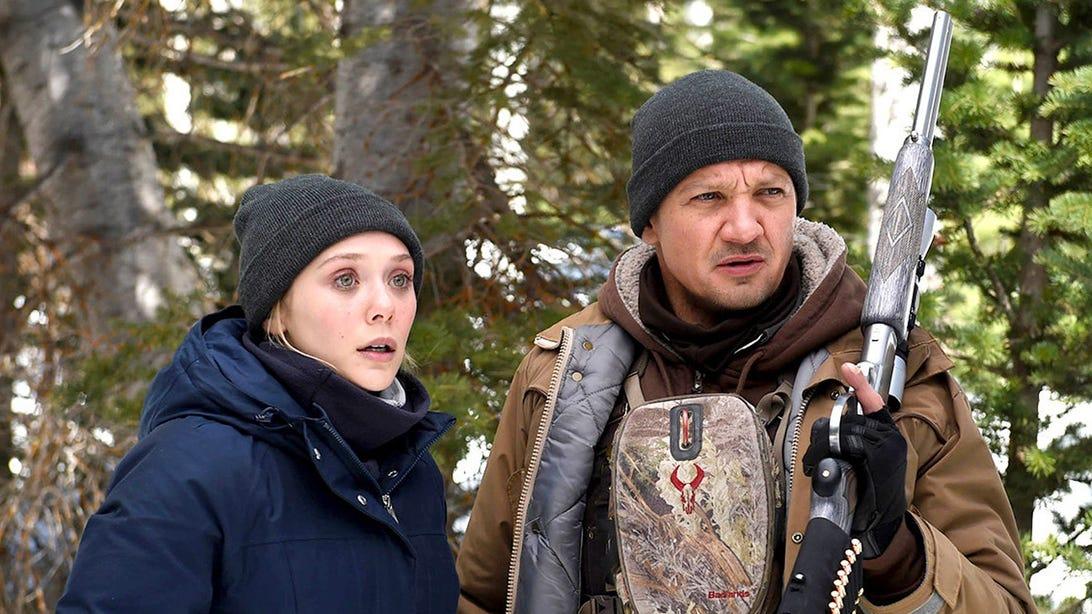Elizabeth Olsen and Jeremy Renner, Wind River