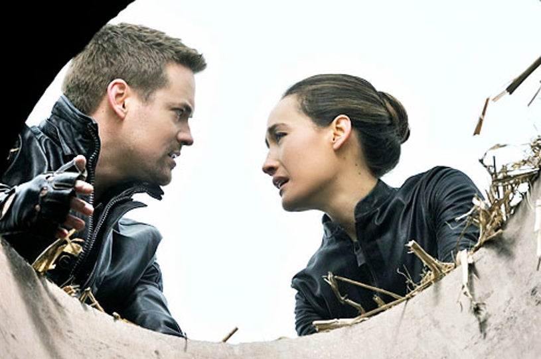 "Nikita - Season 2 - ""Crossbow"" - Shane West and Maggie Q"
