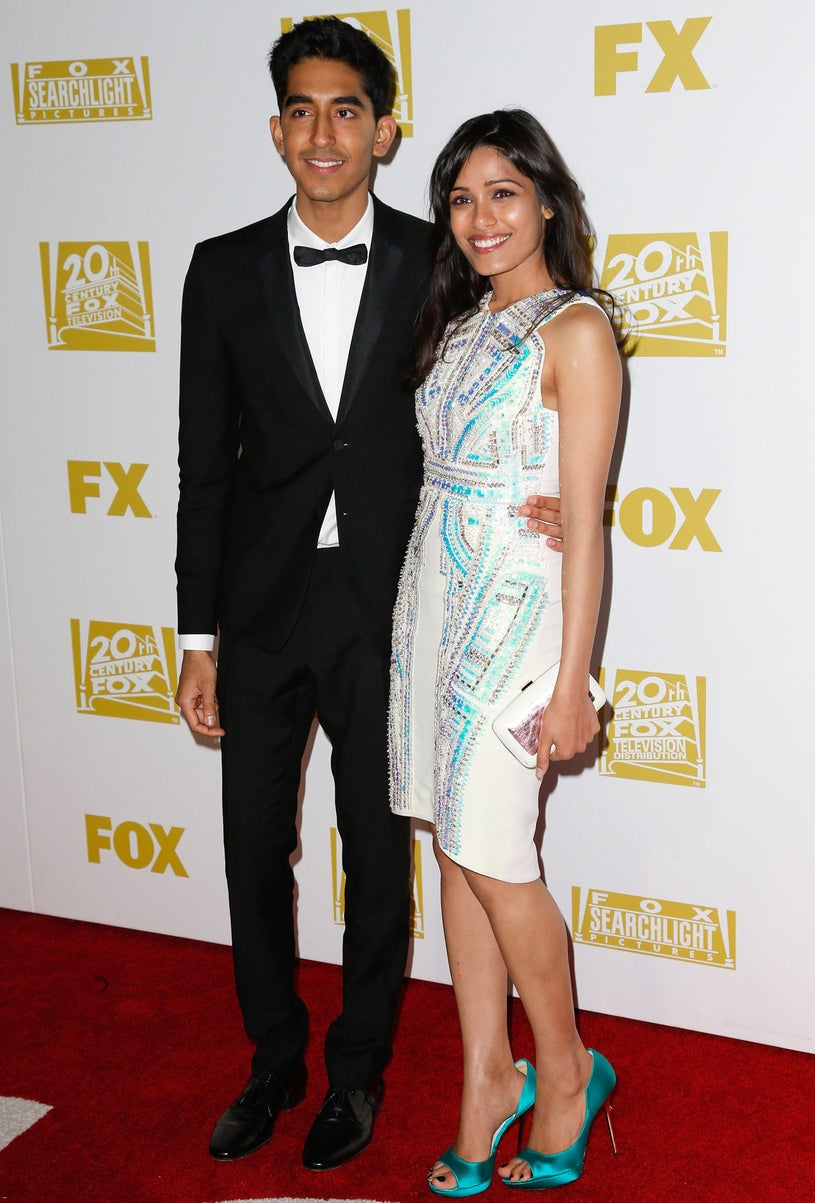 Dev Patel and Freida Pinto - Fox Searchlight 2013 Golden Globe Awards Party in Beverly Hills, California, January 13, 2013