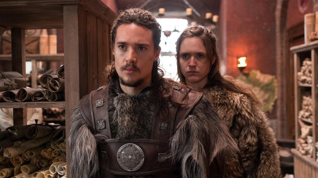 Alexander Dreymon and Emily Cox, The Last Kingdom
