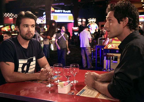 "It's Always Sunny in Philadelphia - Season 5 - ""The Great Recession"" - Rob McElhenney as Mac and Glenn Howerton as Dennis"