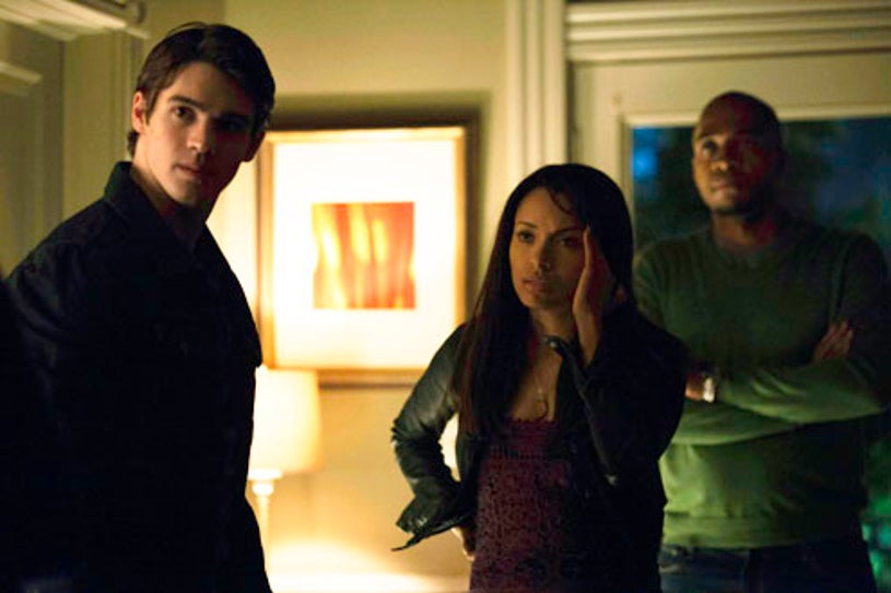 """The Vampire Diaries - Season 4 - """"A View to a Kill"""" - Steven R. McQueen, Kat Graham and Rick Worthy"""