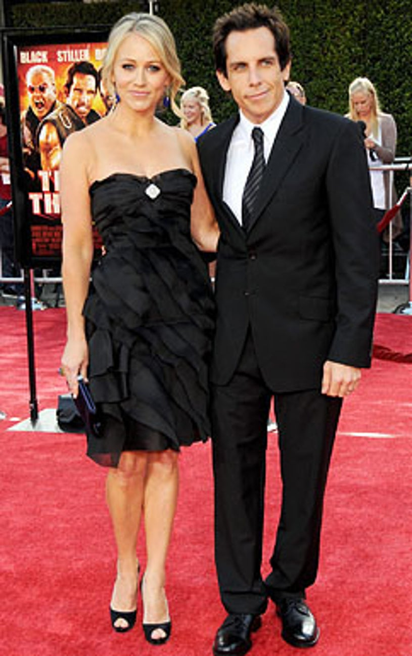 """Christine Taylor and Ben Stiller - The """"Tropic Thunder"""" Los Angeles premiere, August 11, 2008"""