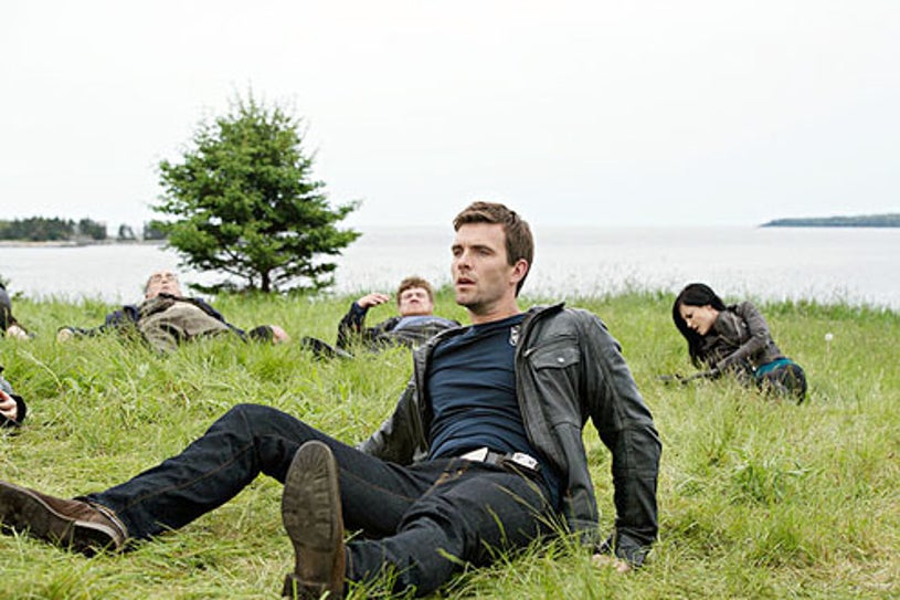 """Haven - Season 4 - """"Lost and Found"""" - John Dunsworth, Lucas Bryant and Kate Kelton"""