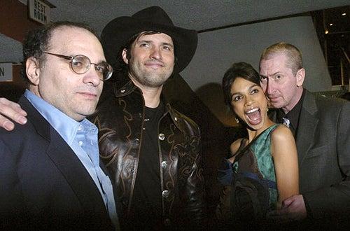 "Bob Weinstein, Robert Rodriguez, Rosario Dawson and Frank Miller - The ""Sin City"" Los Angeles premiere, March 28, 2005"