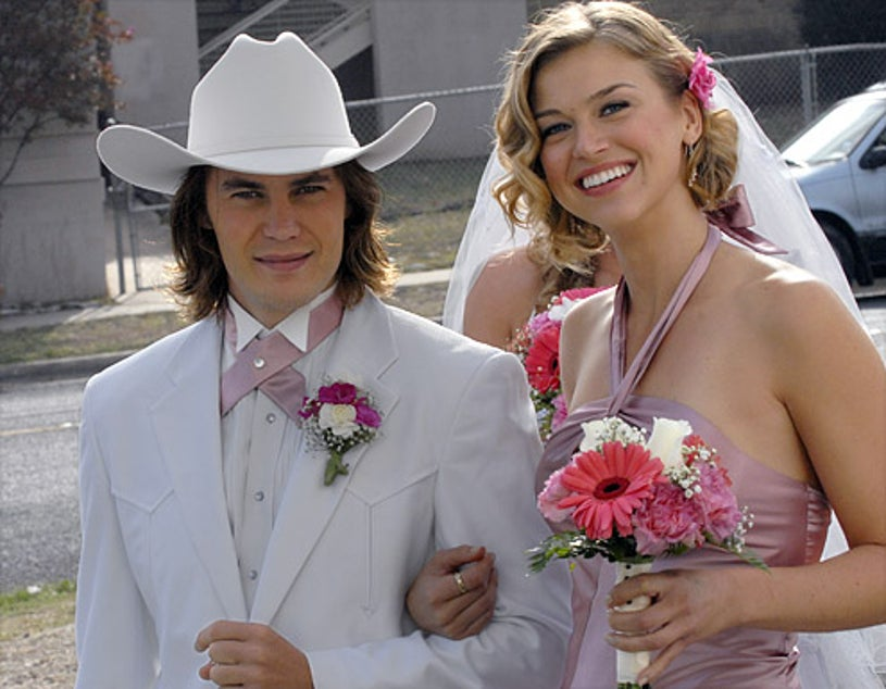 """Friday Night Lights - Season 3 - """"Tomorrow's Blues"""" - Taylor Kitsch as Tim Riggins and Adrianne Palicki as Tyra Collette"""