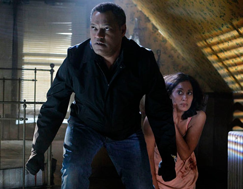 "CSI - Season 11 - ""In a Dark, Dark House"" - Laurence Fishburne, and Tracee Ellis Ross"