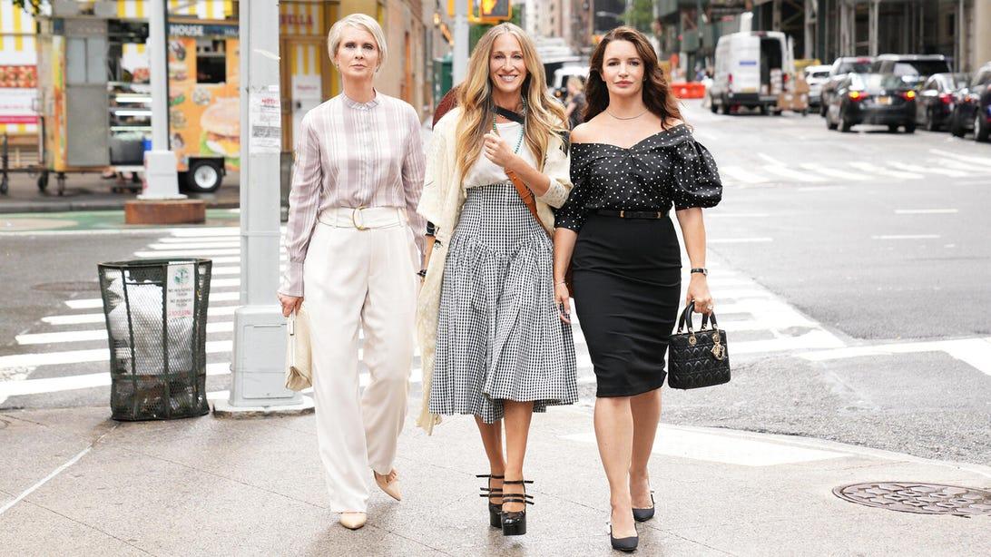 Cynthia Nixon, Sarah Jessica Parker, and Kristin Davis, And Just Like That...