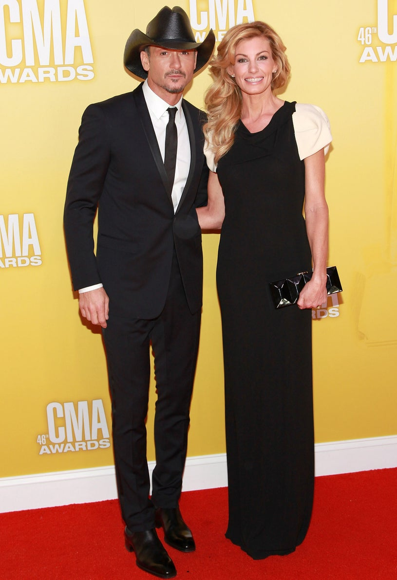 Tim McGraw and Faith Hill - the 46th Annual CMA Awards in Nashville, Tennessee, November 1, 2012
