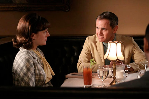 "Mad Men - Season 3 - ""The Fog"" - Elisabeth Moss and Mark Moses"