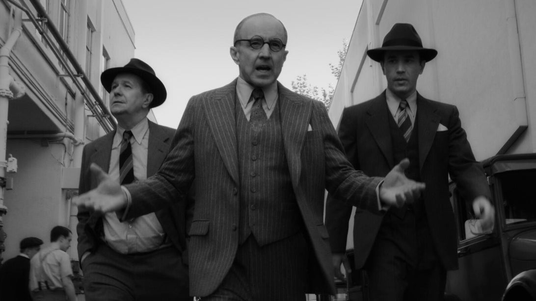 Gary Oldman, Arliss Howard, and Tom Pelphrey, Mank