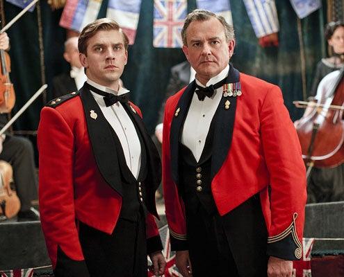 Downton Abbey - Season 2 - Dan Stevens as Matthew Crawley and Hugh Bonneville as Lord Grantham