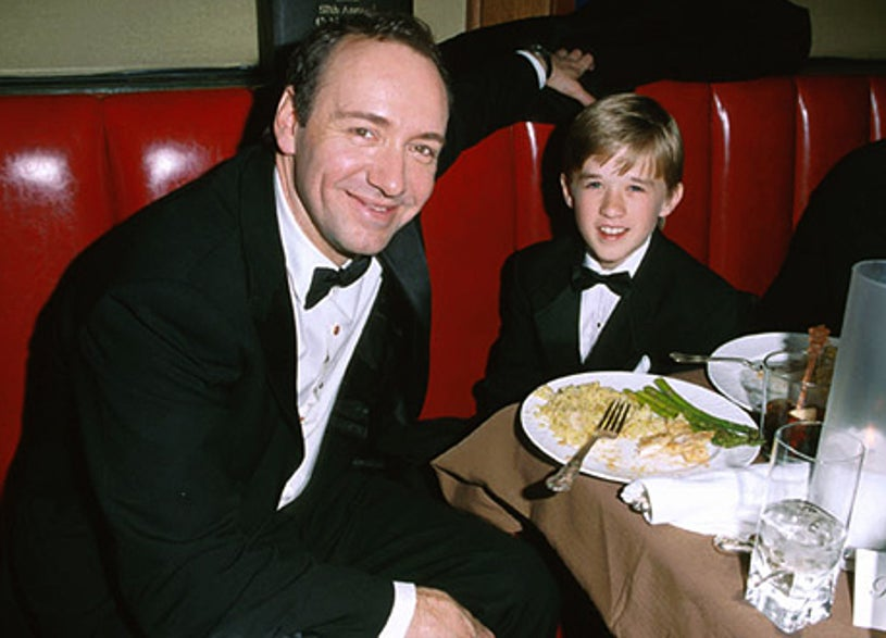 Kevin Spacey & Haley Joel Osment - The 57th Annual Golden Globe Awards Dreamworks after party, January 23, 2000
