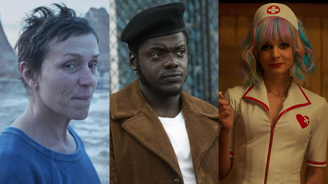 Frances McDormand (Nomadland), Daniel Kaluuya (Judas and the Black Messiah), and Carey Mulligan (Promising Young Woman)