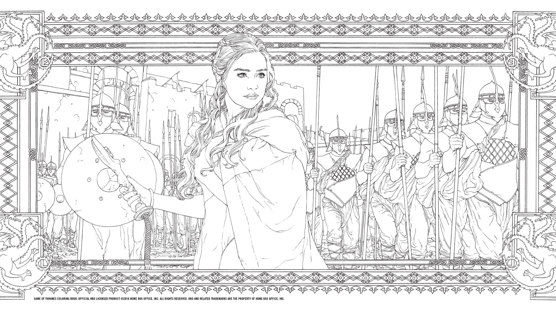 HBO's Game of Thrones Coloring Book: Daenerys and the Army of the Unsullied