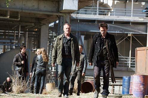 "Revolution - Season 2 - ""Why We Fight"" - Mat Vairo, Elizabeth Mitchell, Stephen Collins, David Lyons and Billy Burke"