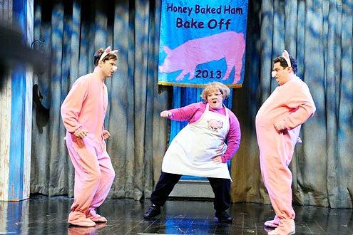 "Saturday Night Live - Season 38 - ""Melissa McCarthy"" - Taran Killam, Melissa McCarthy and Bobby Moynihan"