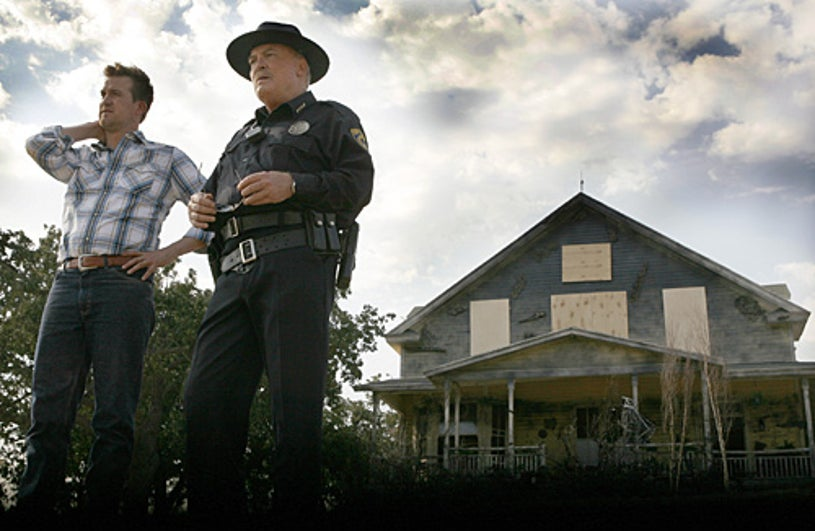 Meteor - Kenneth Mitchell as Russ Hapscomb, Stacy Keach as Sheriff Crowe