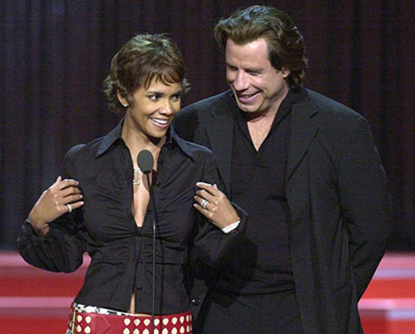 Halle Berry and John Travolta - The 2001 MTV Movie Awards in Los Angeles, June 2, 2001