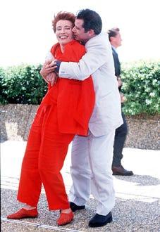 Emma Thompson and John Travolta - Cannes Film Festival, May 1998