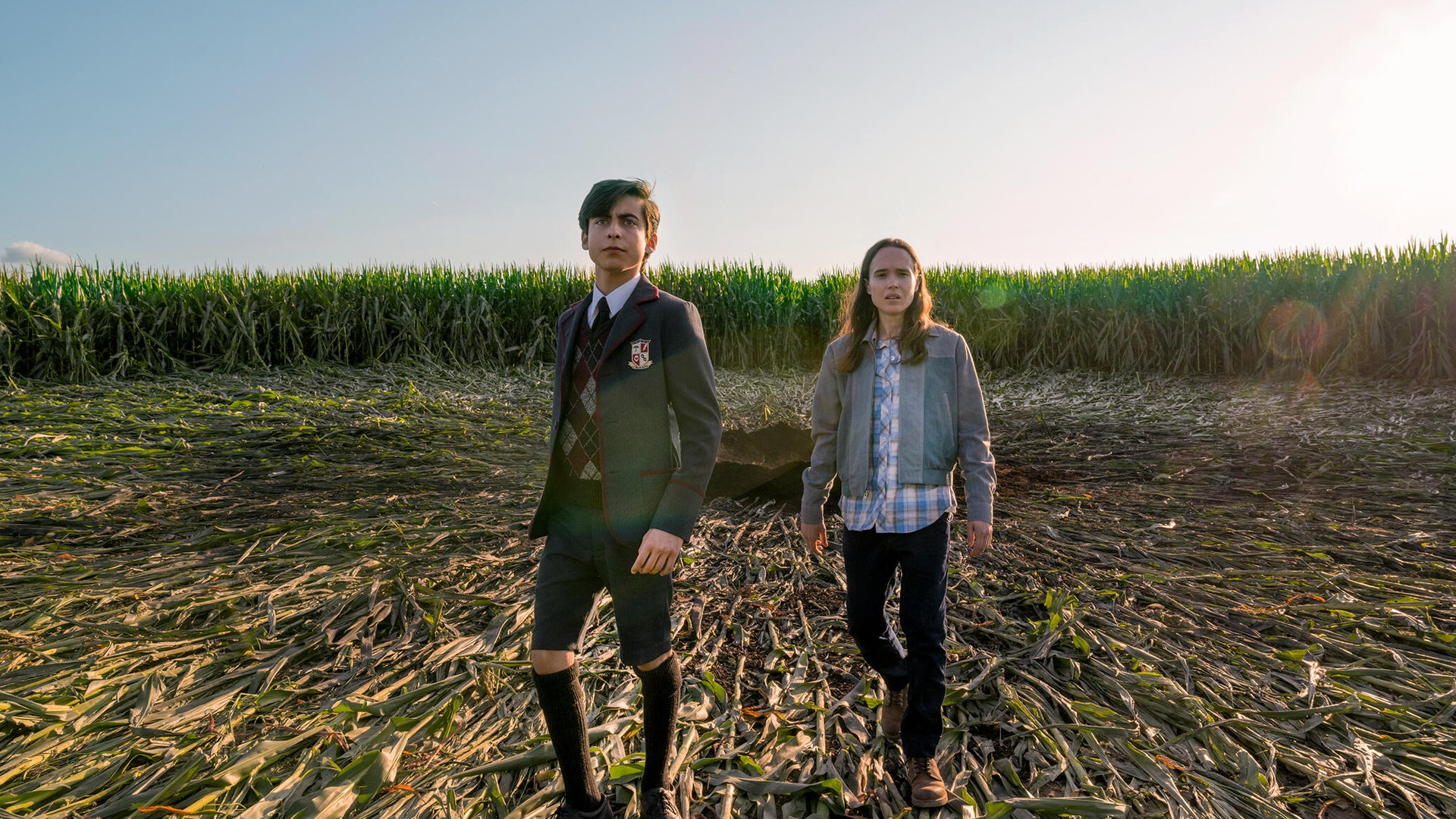 Aidan Gallagher and Ellen Page, The Umbrella Academy