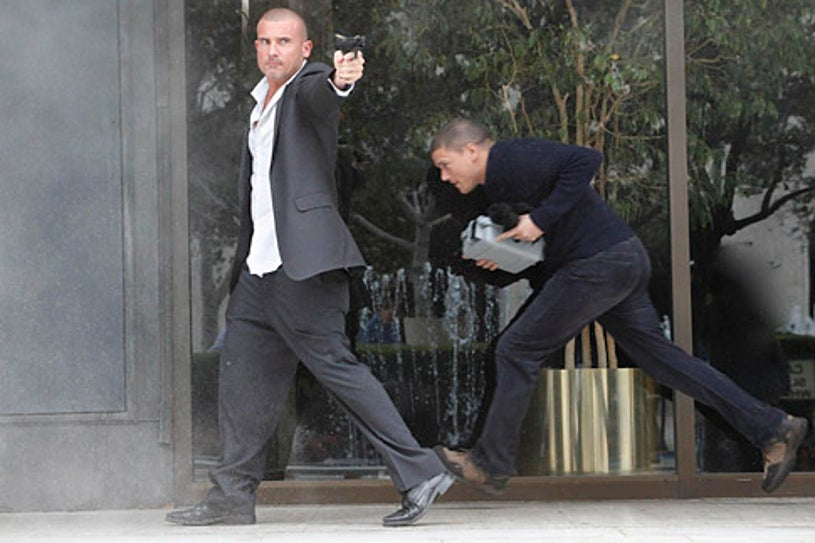 """Prison Break - Season 4 - """"Cowboys and Indians"""" - Dominic Purcell and Wentworth Miller"""