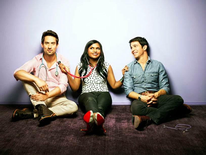 The Mindy Project - Season 1 - Ed Weeks, Mindy Kaling and Chris Messina