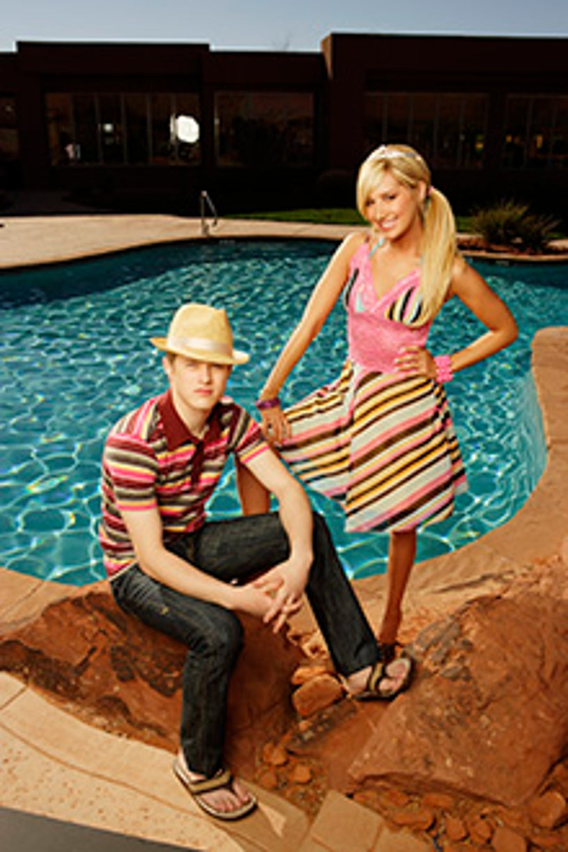 High School Musical 2 - Lucas Grabeel as Ryan Evans and Ashley Tisdale as Sharpay Evans.