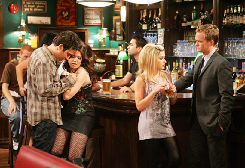 """How I Met Your Mother - Season 3 - """"Wait For It"""" - Josh Radnor as Ted, Mandy Moore as Amy and Neil Patrick Harris as Barney"""