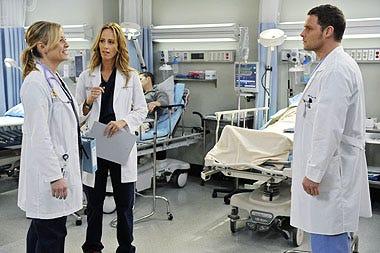 "Grey's Anatomy - Season 6 - ""Perfect Little Accident"" - Jessica Capshaw, Kim Raver, Justin Chambers"